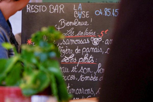 tableau du menu